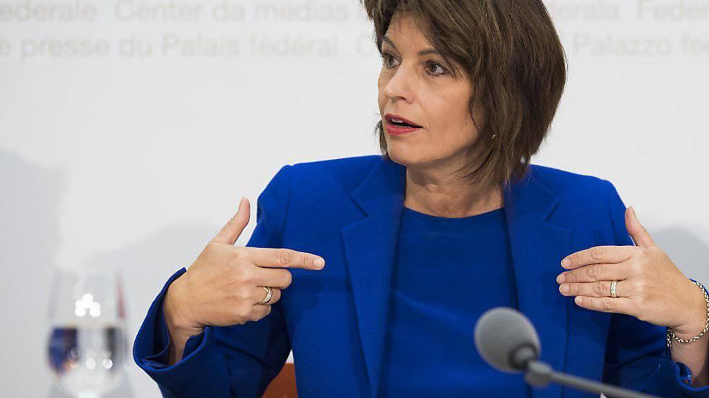 Bundespräsidentin Doris Leuthard spricht am heutigen Dienstag vor der UNO-Generalversammlung. (Archivbild)