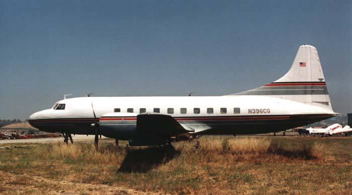 Eine Convair des Typs CV-240.