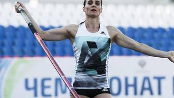 Sie darf auch laut Bundesgericht nicht an den Olympischen Spielen in Rio teilnehmen: Die russische Weltrekordhalterin im Stabhochspringen, Jelena Isinbajewa. (Archiv)