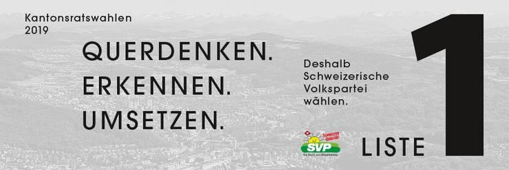 Die SVP des Bezirks Dietikon hat einen neuen Slogan, der alles beinhaltet, das den Bezirk, den Kanton und auch die Schweiz beinhaltet.