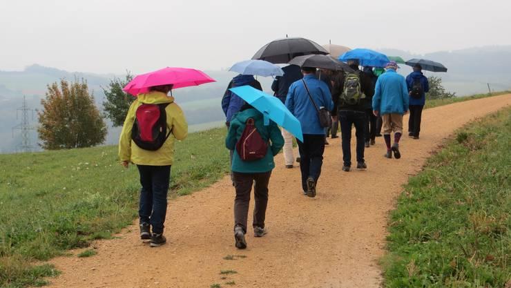 Es regnete ein wenig bei unserer Wanderung