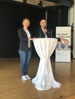 RR-Kandidatin Natalie Rickli & Rolf Wyssling