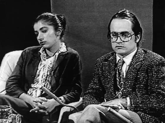 15. Juli 1980 im TV-Studio: «Herr und Frau Müller» treiben die Diskussion über die Gewalt mit der Polizei ad absurdum.