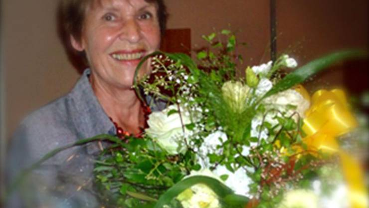 Die Co-Präsidentin Anita Egger wurde zu ihrem Jubiläum geehrt.