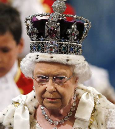 Queen Elizabeth II. Das Bild vergrössert sich durch Anklicken.
