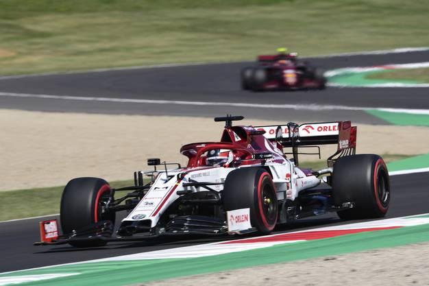 Alfa-Pilot Kimi Raikkönen im Training zum Toskana-GP.