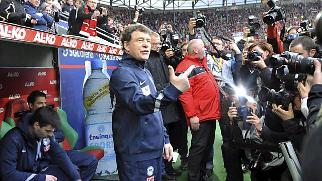 Hertha-Coach Otto Rehhagel hat noch viel Arbeit vor sich