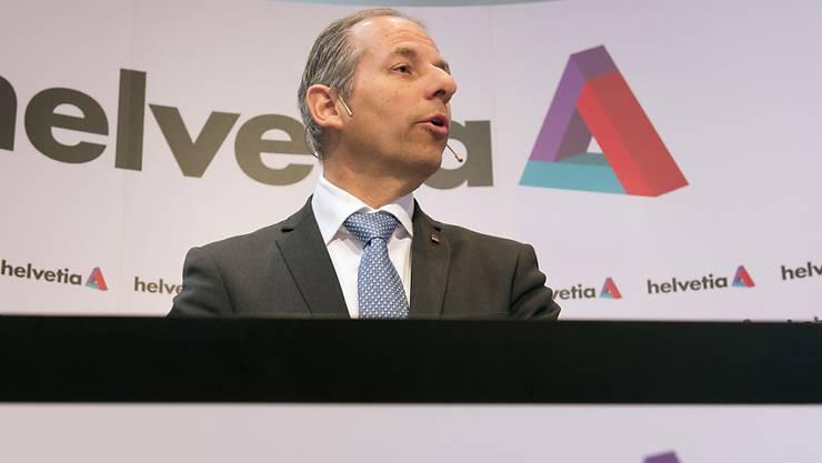 Helvetia-Chef Philipp Gmür zeigt sich über das Halbjahresergebnis seines Unternehmens erfreut. Und auch mit der Umsetzung der neuen Strategie komme man zügig voran, sagte er. (Archivbild)