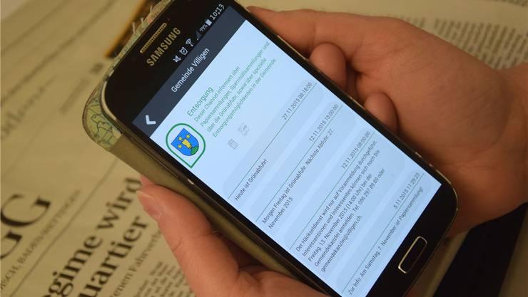 Die Nutzer der App erhalten beispielsweise Infos über die Entsorgung. mhu