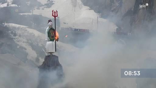 Bööggverbrennung live von der Teufelsbrücke in Uri