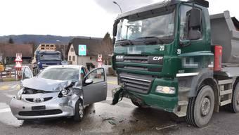 Die Autolenkerin kollidierte mit einem Lastwagen in Obergösgen