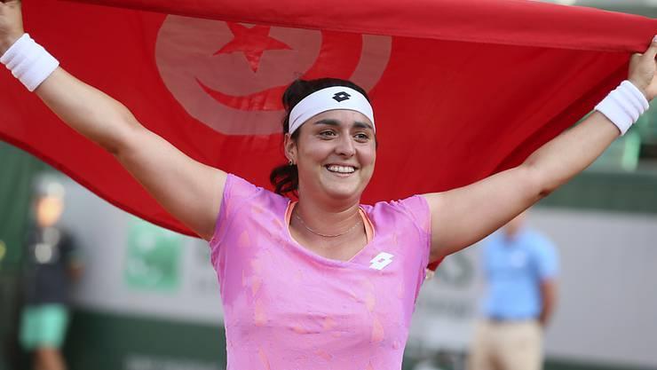 Ehrenrunde mit der tunesischen Flagge: Timea Bacsinszkys heutige Gegnerin Ons Jabeur