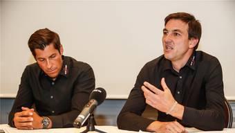 Thomas Peter (r.) Sportdirektor bei Swiss Cycling äussert sich zum Doping-Geständnis von Danilo Hondo.