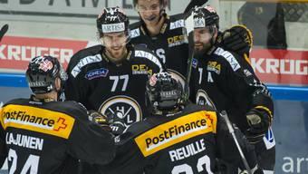 Luganos Spieler haben am Montagabend fünfmal Grund zum Jubeln