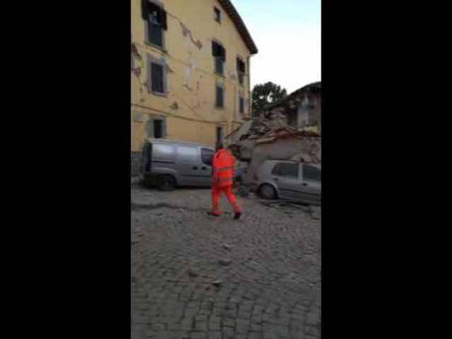 Amatrice wurde vom Erdbeben stark getroffen.