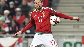 Keine Höhenflüge: Ungarns Fussball mit Adam Gyurcso (oben) macht aktuell eine schwierige Phase durch