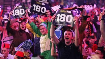 """Die Darts-WM im Londoner """"Ally Pally"""" mobilisiert normalerweise die Massen"""