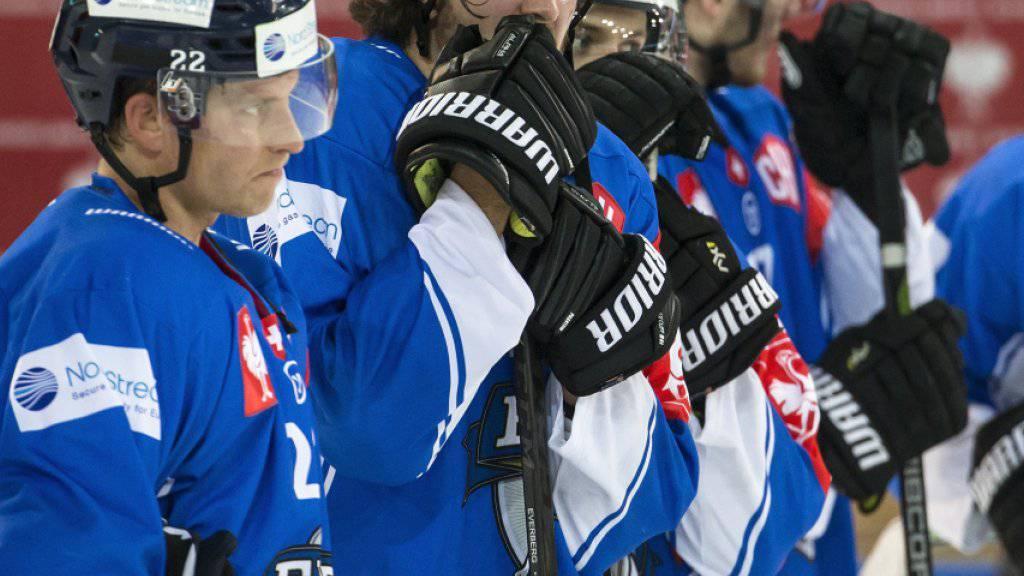 Der EV Zug (im Bild nach dem Champions-League-Out gegen München) dürfte sich wohl problemlos als eines von fünf Schweizer Teams für die nächste Saison der Champions Hockey League qualifizieren