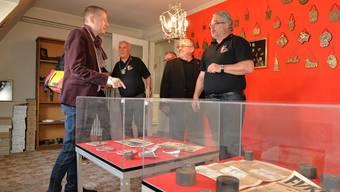 Fukopräsident Beat Loosli (rechts) im Gespräch mit Stadtrat Thomas Marbet