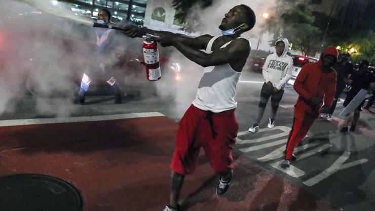 Strassenproteste in der US-Stadt Indianapolis gegen Polizeigewalt.