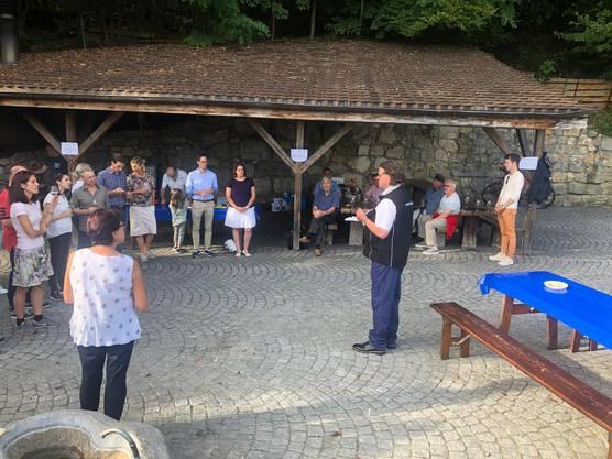 Jürg Braga bei der Ansprache