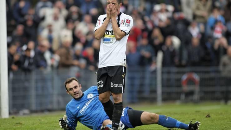 Der FC Aarau kassiert im dritten Spiel der Rückrunde die erste Niederlage.