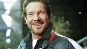 "Götz George als ""Schimanski"" bei Dreharbeiten 1997 in Duisburg"