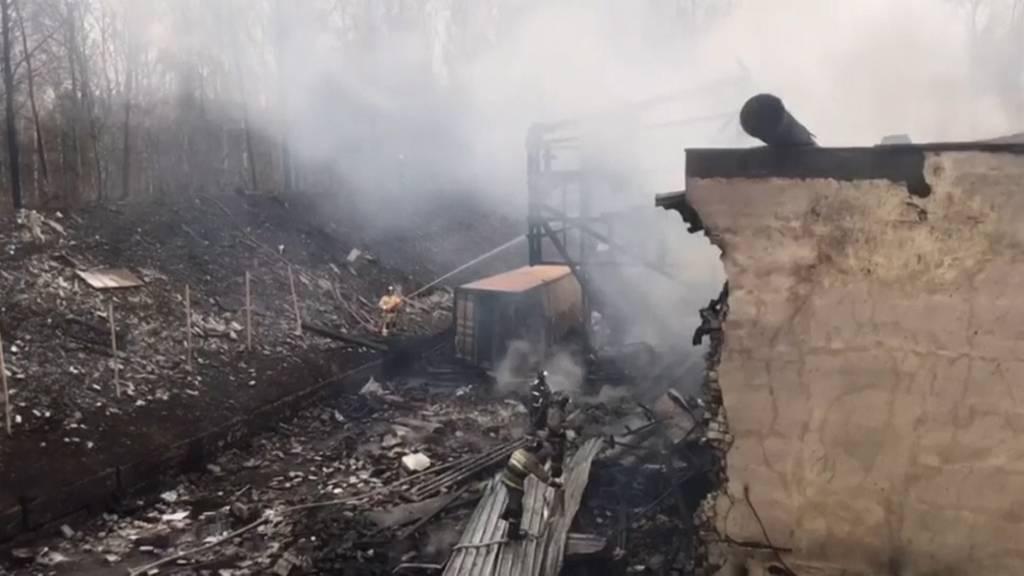 15 Tote bei Explosion in russischer Sprengstofffabrik