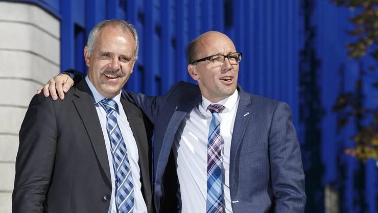 Bauer Urs Schläfli (links) und Biologe Stefan Müller: Inhaltlich liegen die beiden Solothurner CVP-Nationalräte nicht um Welten auseinander, aber in ihrem Politik-Stil unterscheiden sie sich frappant.