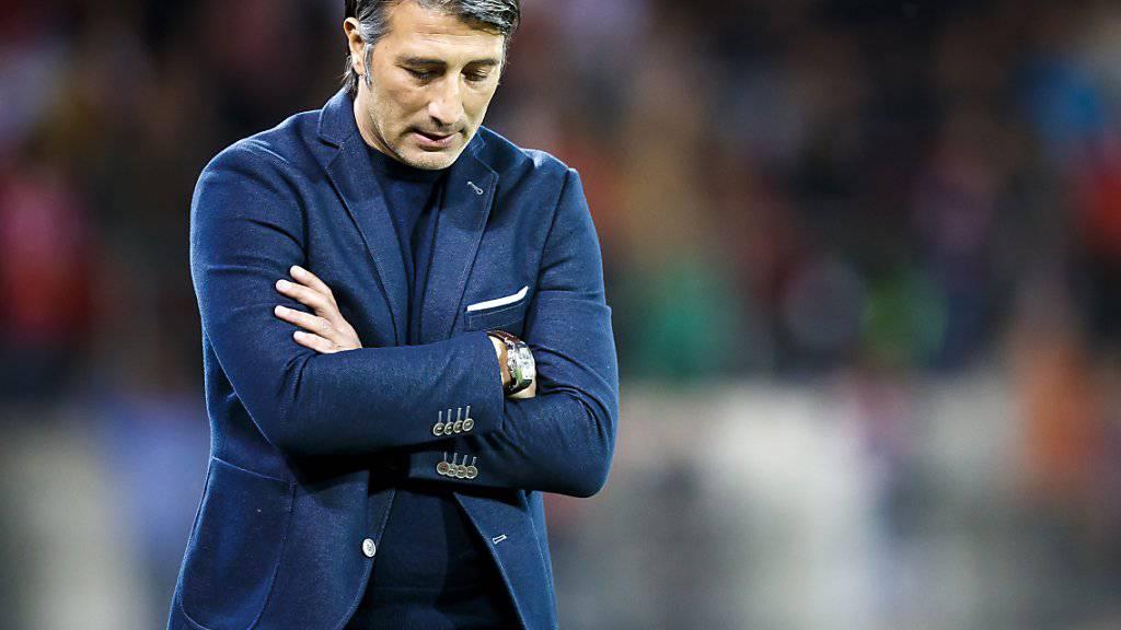 Steht nach zwei Spielen noch ohne Punkte da: Sions neuer Trainer Murat Yakin