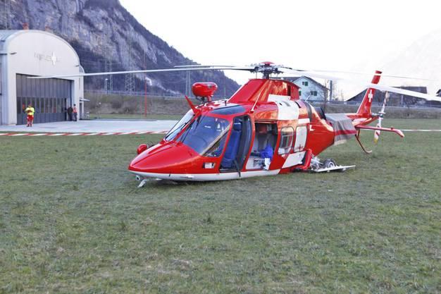 Der Helikopter war auf dem Rückweg eines Rettungsflugs