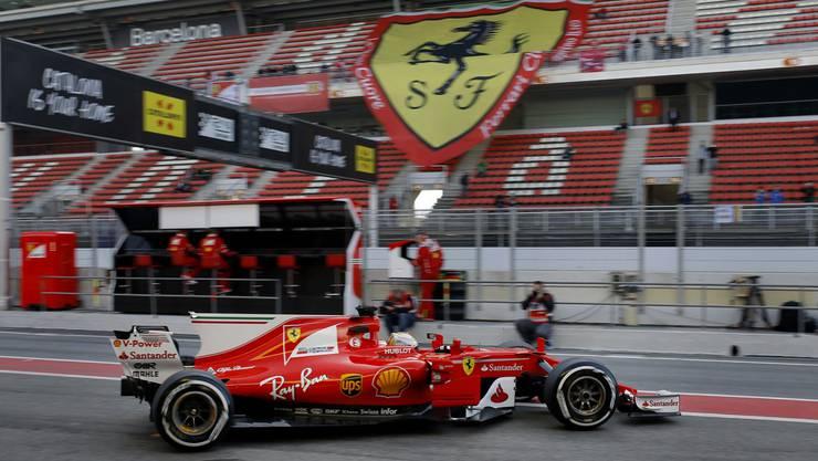 Sebastian Vettel in seiner «Gina». Der Deutsche überlegt sich traditionell vor dem Saisonstart einen Namen für seinen Boliden.
