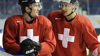 Roman Josi, (links) und Nino Niederreiter (rechts) spielen am World Cup of Hockey Ende September für das Team Europa