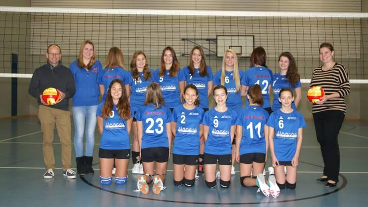 SV Waltenschwil, Volley Damen U17 mit Sponsoren