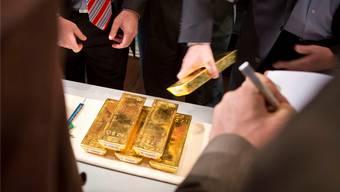 Gefragtes Gold: Die verbale Eskalation des Atomstreits lässt den Preis ansteigen. FRANK RUMPENHORST/Keystone
