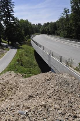 Bauarbeiten Zollfreie Strasse Riehen