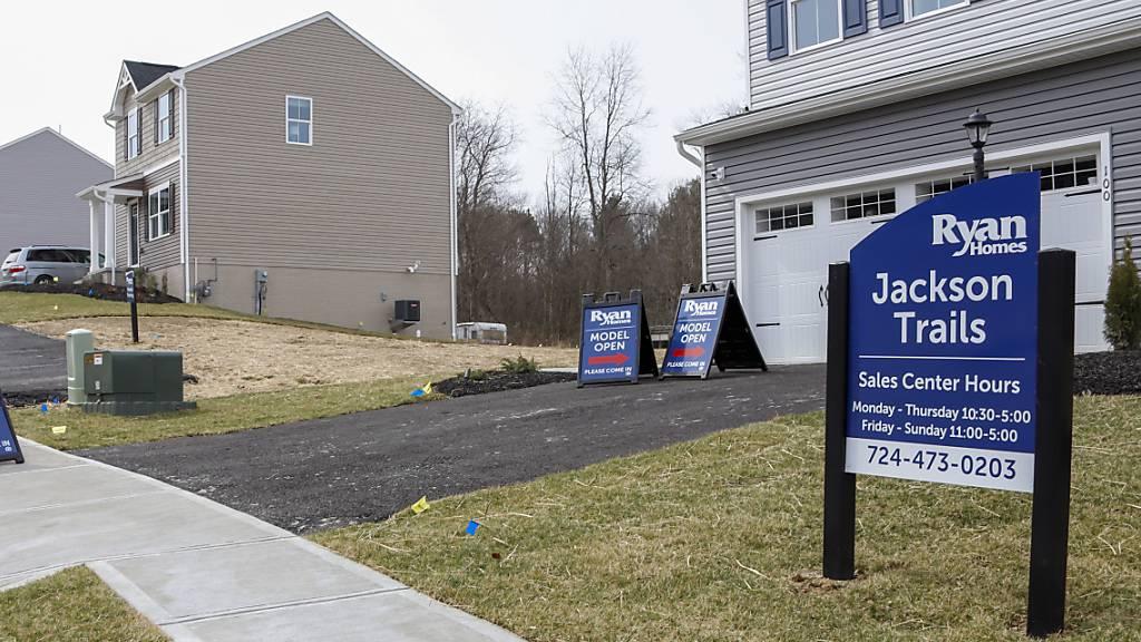 In den USA wurden weniger neue Häuser gebaut. (Archivbild)