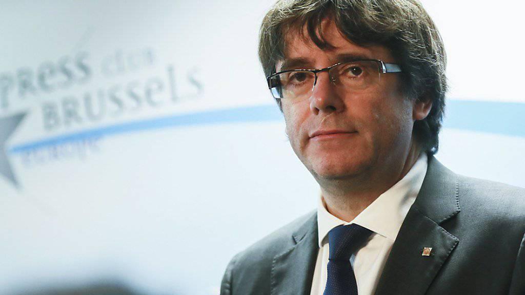 Bleibt vorerst in Brüssel: Der abgesetzte katalanische Regionalpräsident Carles Puigdemont.