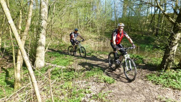 Mountainbiker, Wanderer und Reiter nutzen teilweise die gleichen Wege.archiv