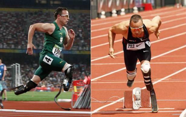 Oscar Pistorius beim 100-Meter-Final an den Paralympics in Peking