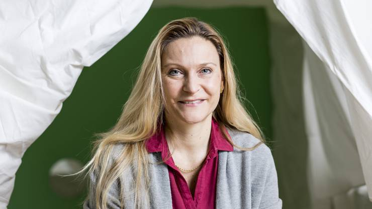 Claudia Rabelbauer in der von ihr mitaufgebauten Kinderkrippe Kibiz in Zürich Altstetten.
