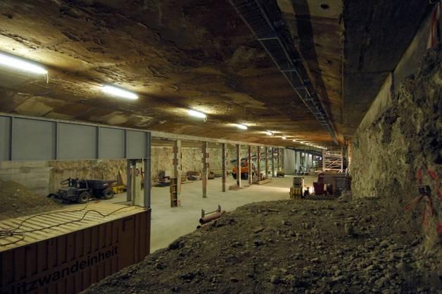 Derzeit dient der Stadttunnel für den Bau des Bahnhofs Löwenstrasse (zvg sbb)