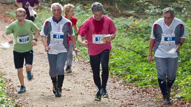 Jung und alt nahmen am 62. Baselbieter Team-OL im Gebiet Limpberg teil.