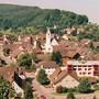 Das Dorfzentrum der Fricktaler Gemeinde Zeiningen.