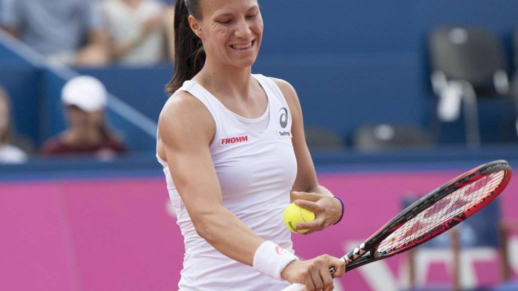 Viktorija Golubic hadert mit ihrer Leistung in Gstaad