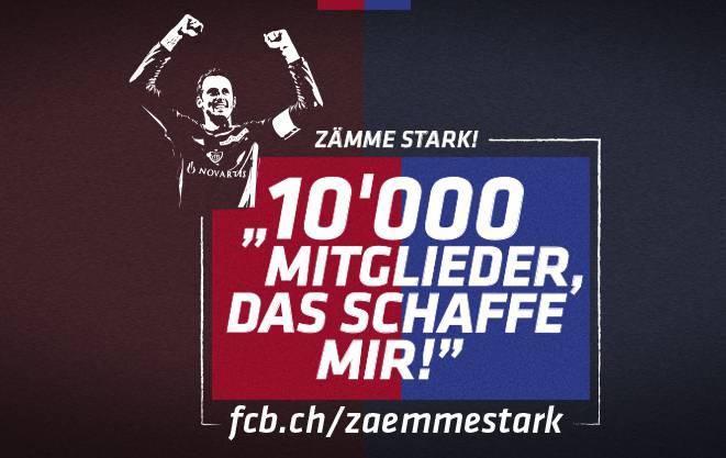 Mit Marco Streller als Gesicht des Projekts wirbt der FC Basel um mehr Mitglieder.