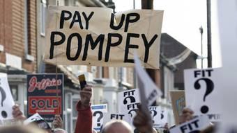 Proteste der Portsmouth-Fans vor rund einem Monat