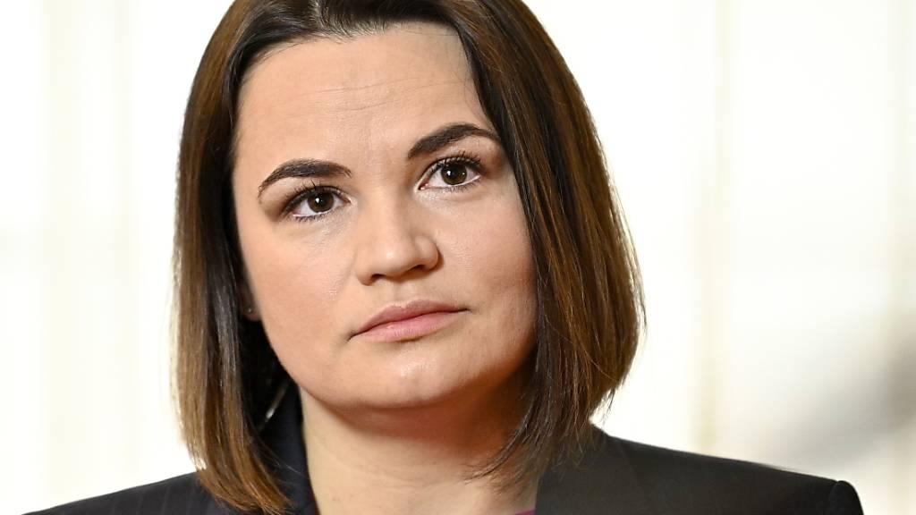 Tichanowskaja fordert von G7 Hilfe für Unabhängigkeit von Belarus