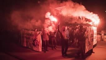 Reitschule: Demonstration in Bern