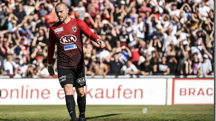 Marco Schneuwly hat die Erwartungen in Aarau bislang nicht erfüllt.